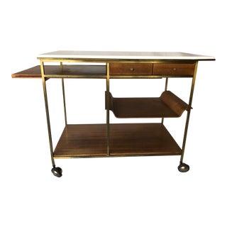 1950s Mid Century Modern Paul McCobb for Calvin Bar Cart For Sale