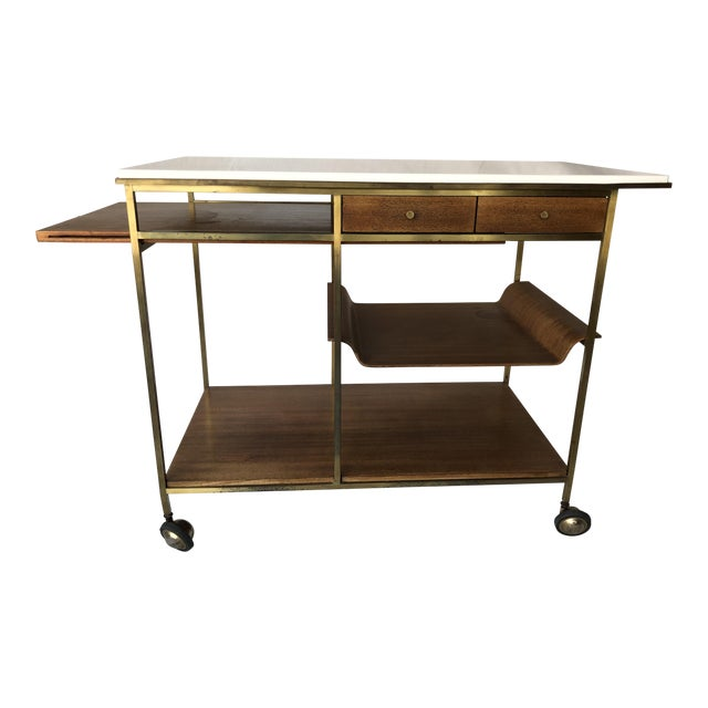 1950s Mid Century Modern Paul Mccobb For Calvin Bar Cart Chairish