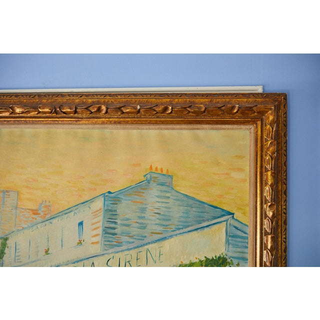 Late 20th Century Large Impressionist Oil Painting of a French Street Scene For Sale - Image 5 of 13