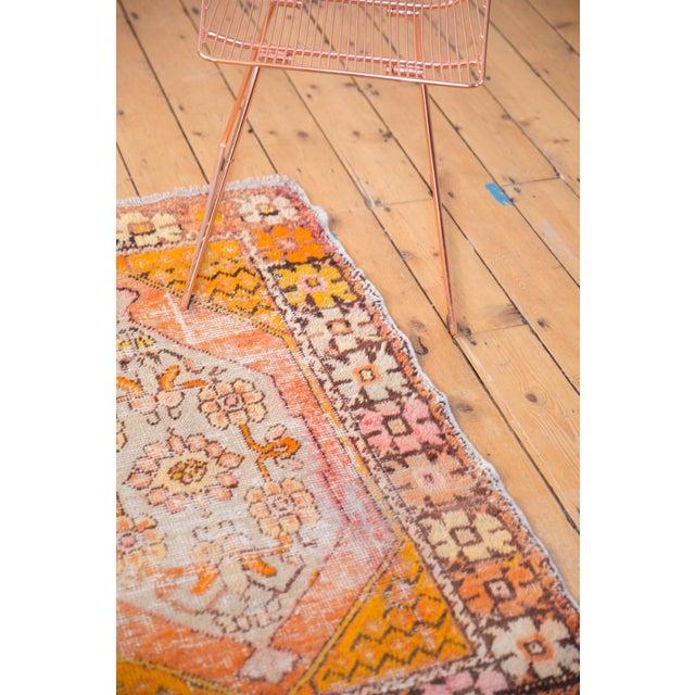 """Orange Vintage Distressed Oushak Square Rug - 2'10"""" X 4'1"""" For Sale - Image 8 of 11"""