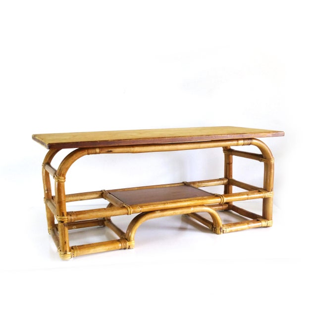 1970s Boho Chic Bamboo Coffee Table For Sale - Image 9 of 9