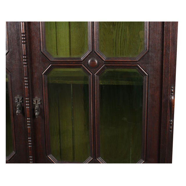 1920s Art Noveau-Jacobean Style Bookcase For Sale - Image 5 of 5