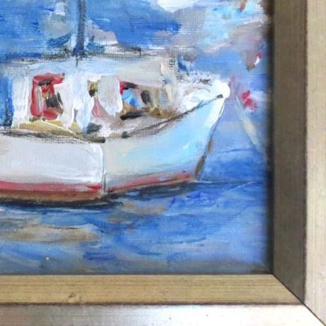 """Mary Houston Acrylic on Canvas """"Safe Harbor"""" - Image 2 of 2"""