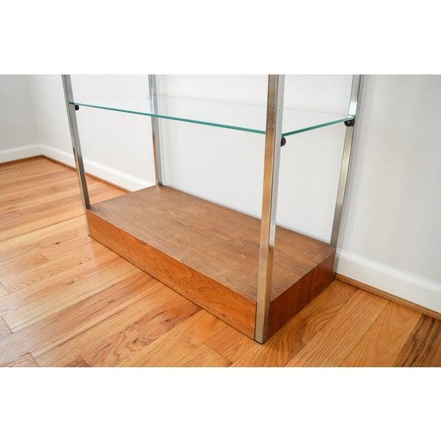 Mid-Century Glass Etagere Shelving Unit - Image 7 of 9