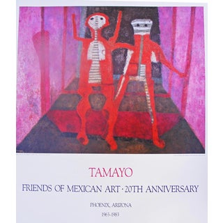 1983 Vintage Original Rufino Tamayo Mexican Art Exhibition Poster For Sale