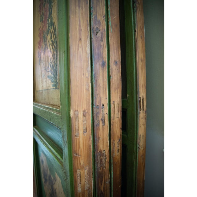 Asian Chinese Painted Door Panels - 4 Pieces For Sale - Image 3 of 13