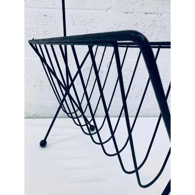 1950s Vintage Tony Paul Steel Wire Magazine Rack For Sale In Miami - Image 6 of 12