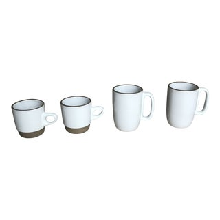 Heath White Coupe Rim Line Tea Coffee/Mugs - Set of 4 For Sale