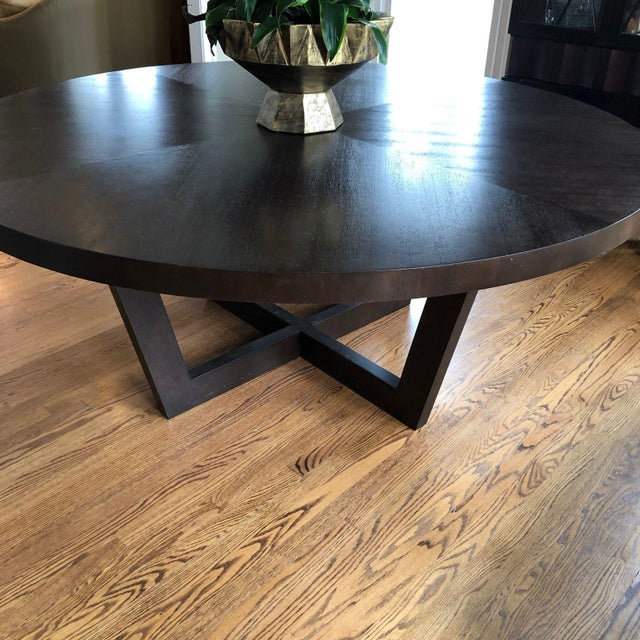 Italian Italian 72 Inch Round Dining Table For Sale - Image 3 of 13