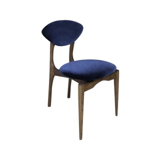 Femur Chair in Walnut and Velvet by Atra For Sale