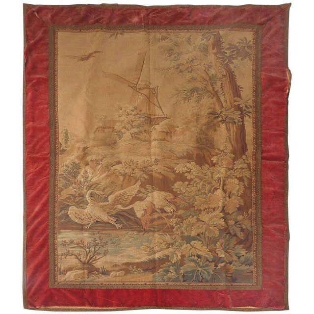 Tapestry Wall Hanging, circa 1920s from a Historic South Florida Home For Sale - Image 11 of 11