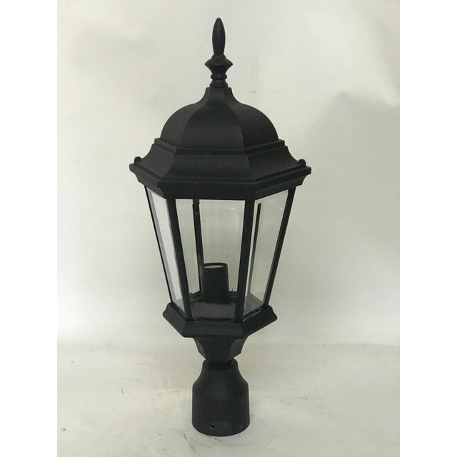 Traditional Aluminum Post Lanterns - A Pair For Sale - Image 3 of 5