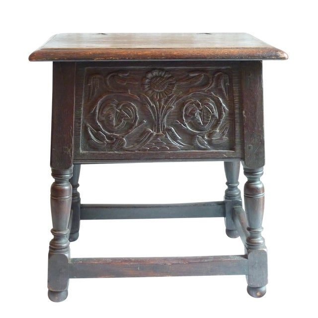 18th Century English Carved Oak Joint Stool - Image 1 of 6