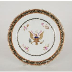 19th Century Chinese Import American dinner plates- A Pair For Sale