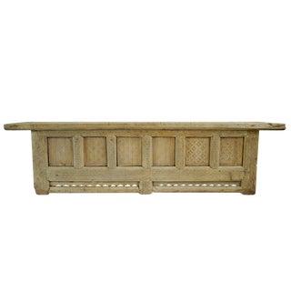 Rustic Raw Elm Low Sideboard