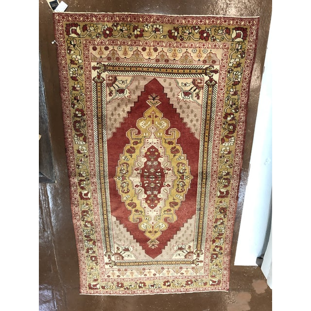 Mid 20th Century Turkish Wool Oushak Rug For Sale - Image 5 of 5