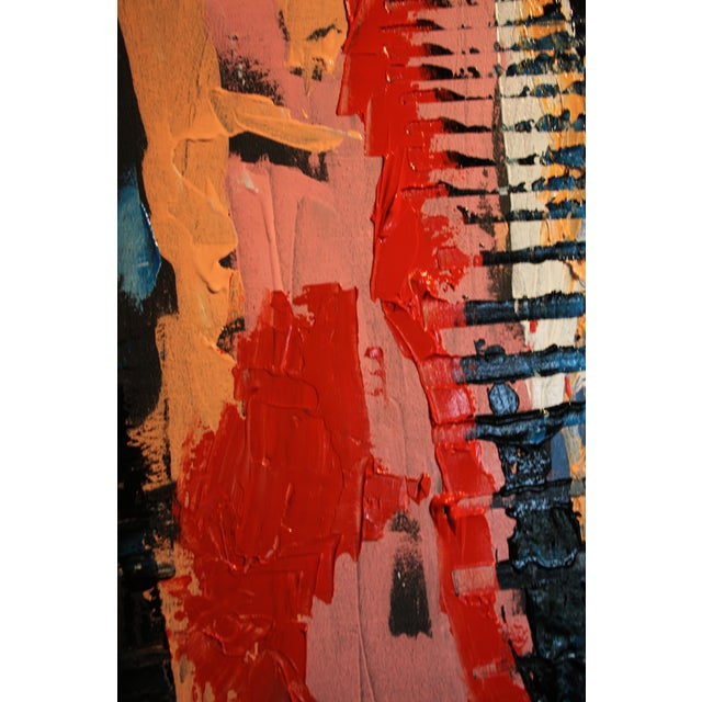 """Blink"" Abstract Acrylic Painting For Sale - Image 6 of 9"