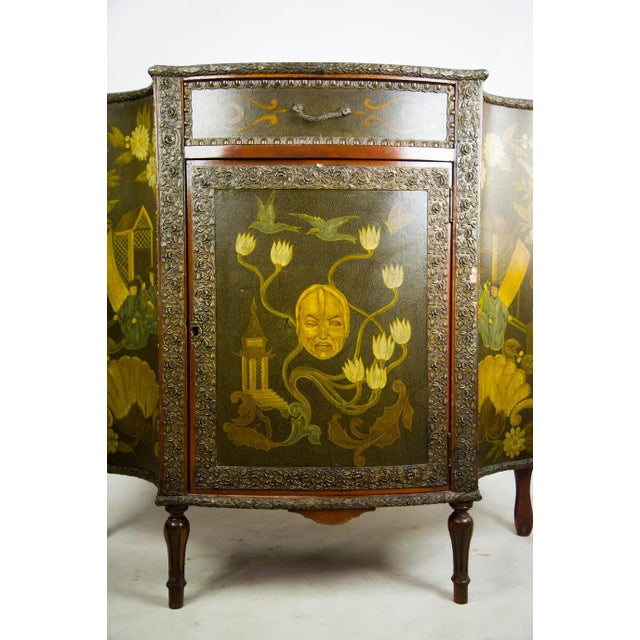 20th C. Chinoiserie Carved Mahogany Console Cabinet For Sale In Atlanta - Image 6 of 13