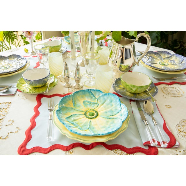 Blue Moda Domus x Chairish Exclusive Dessert Plates in Blue, Purple, and Green - Set of 6 For Sale - Image 8 of 11