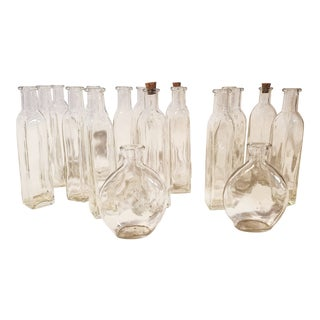 Vintage Glass Bottles - Collection of 18 For Sale