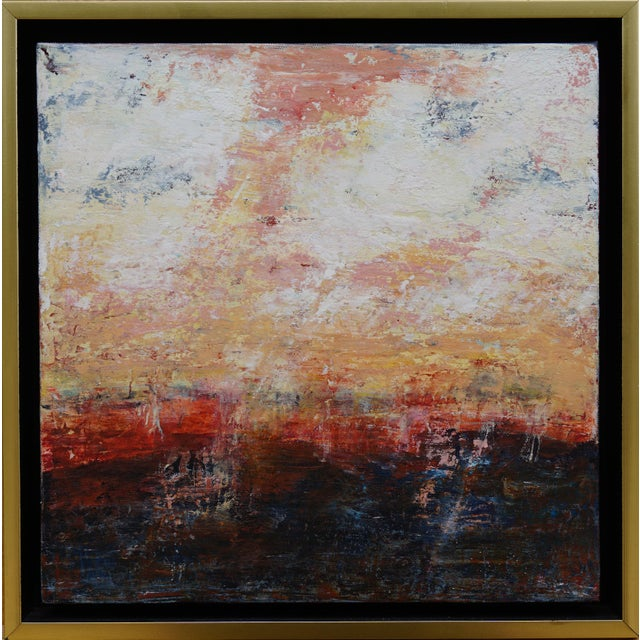 Alone Together reminds the artist of watching the sunset with a loved one. It is done with oil paint mixed with cold wax,...