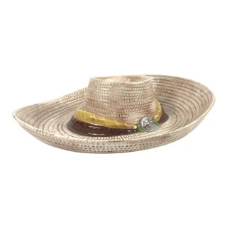 1980s Southwestern Cowboy Hat Chip and Dip Platter For Sale