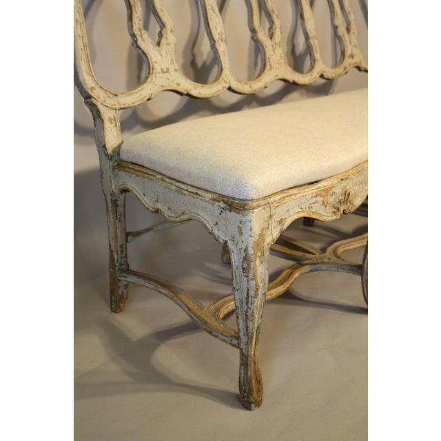 19th C Portuguese Carved Wood Bench For Sale In New Orleans - Image 6 of 11