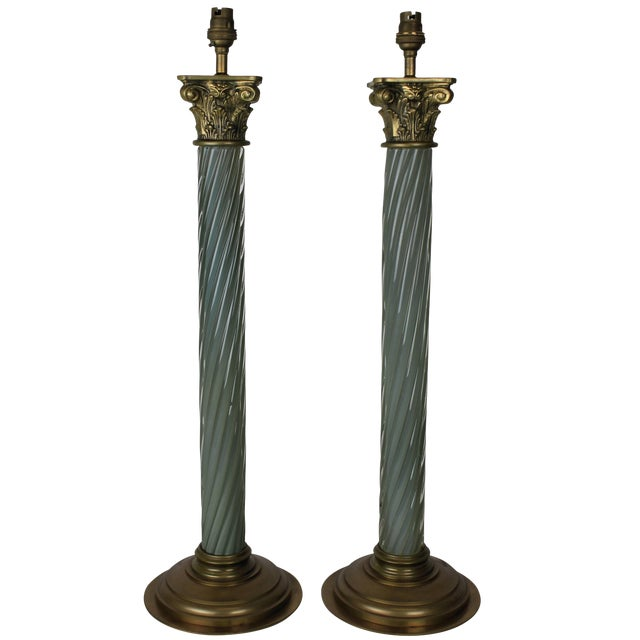 A Pair of Russian Table Lamps For Sale