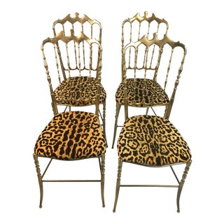 Vintage Italian Chiavari Chairs- Set of 4 For Sale
