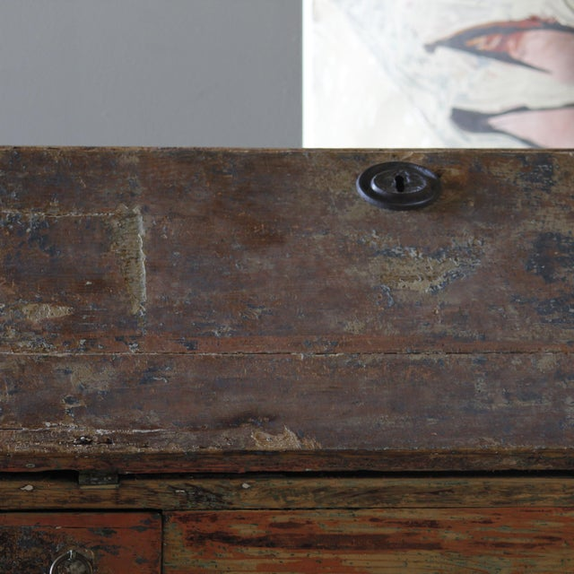 Dutch Rococo Painted Desk For Sale In West Palm - Image 6 of 9