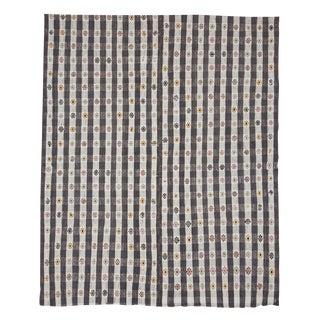 Vintage Embroidered Decorative Kilim Rug For Sale