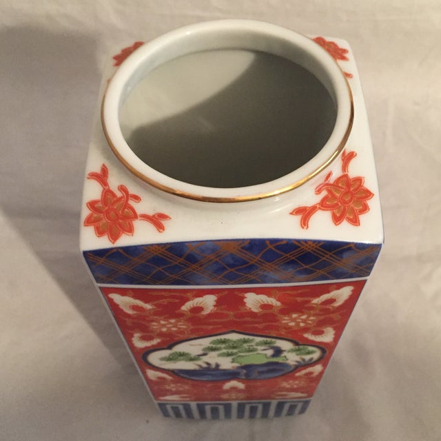 Contemporary Japanese Imari Style Porcelain Vase For Sale In Los Angeles - Image 6 of 8