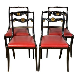 English Regency Dining Chairs - Set of 4 For Sale
