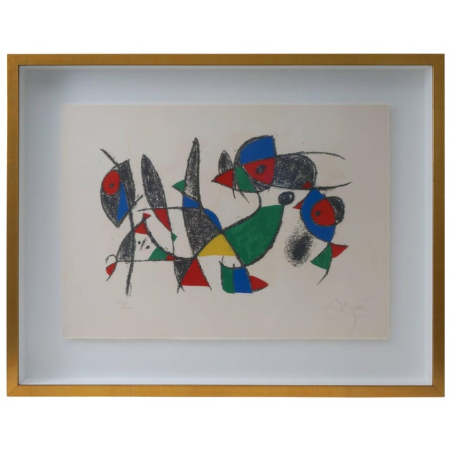 Lithograph by Joan Miro, Circa 1975, Lithographs Ii, Plate 10, Mourlot Paris For Sale