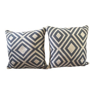 Needlepoint Geometric Pillows - A Pair For Sale