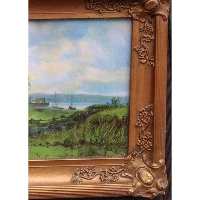 Antique Victorian Worn Gold Finish Plaster Frames - A Pair   Chairish