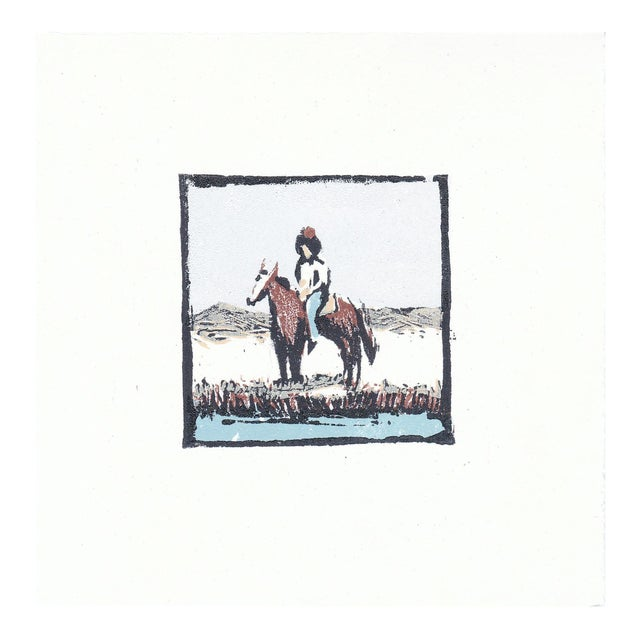 """""""Frontier"""" Limited Edition Woodblock Print by Michelle Farro For Sale"""