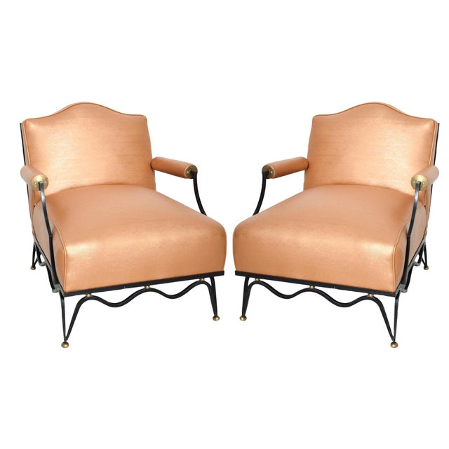 French Neoclassical Revival Mexican Modernist Arm Chairs Attr Arturo Pani - a Pair For Sale - Image 12 of 12