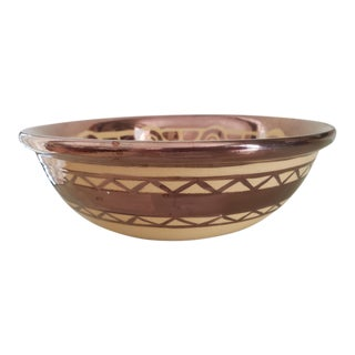 Vintage Lusterware Decorative Bowl For Sale