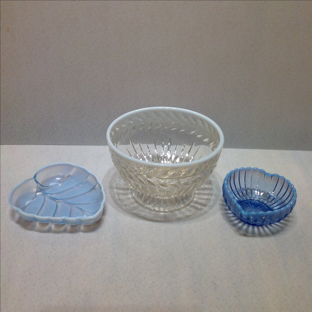 Fenton French Opalescent Glass Bowls - Set of 3 - Image 2 of 7