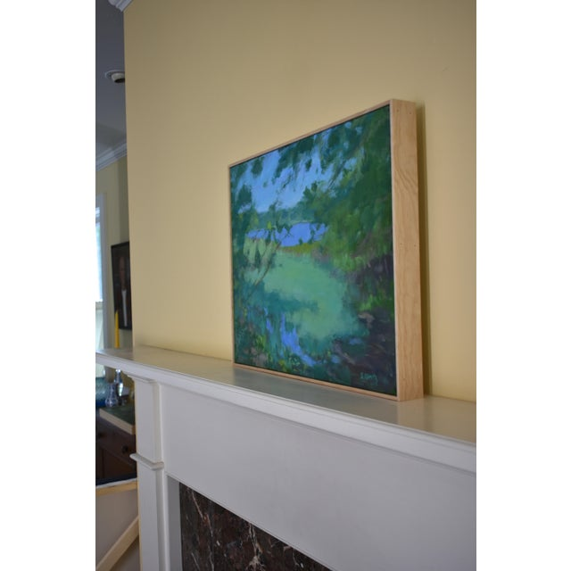 """Stephen Remick """"Ocean Through the Trees"""" Contemporary Plein Air Painting For Sale - Image 10 of 12"""