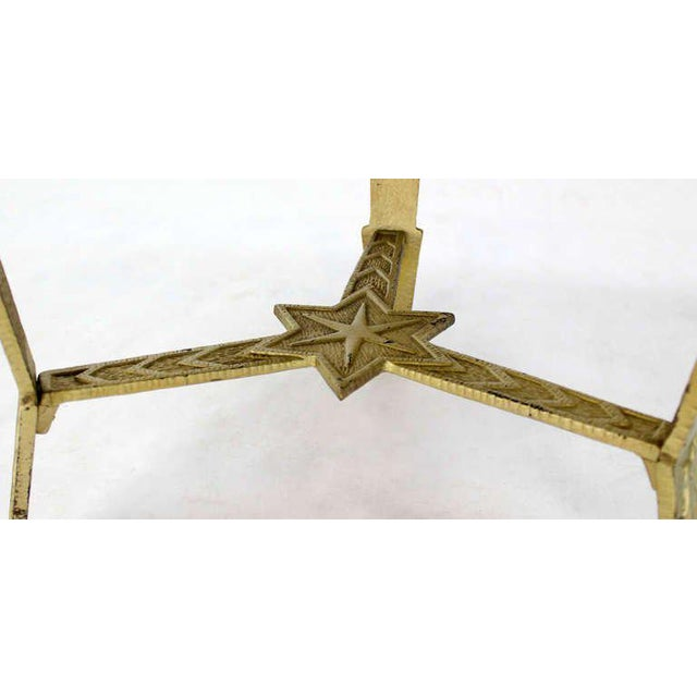 Early 20th Century Mid-Century Modern, Hexagon-Top and Star Base Side or Occasional Table For Sale - Image 5 of 10