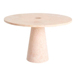Italian Handcrafted Dining Table in Marble Designed by Karen Chekerdjian For Sale