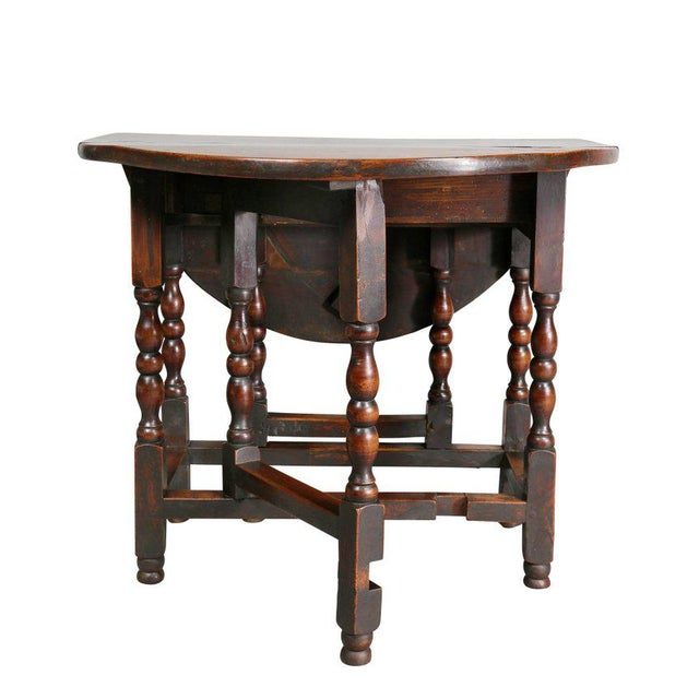 William and Mary Fruitwood Gateleg Table For Sale - Image 5 of 8