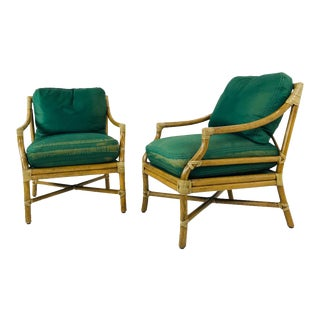 Vintage of McGuire Chairs - a Pair For Sale