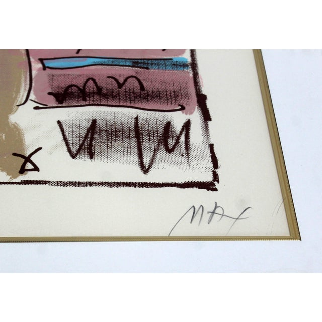 Peter Max Mid-Century Modern Framed Print by Peter Max Seated Lady Signed Numbered For Sale - Image 4 of 7