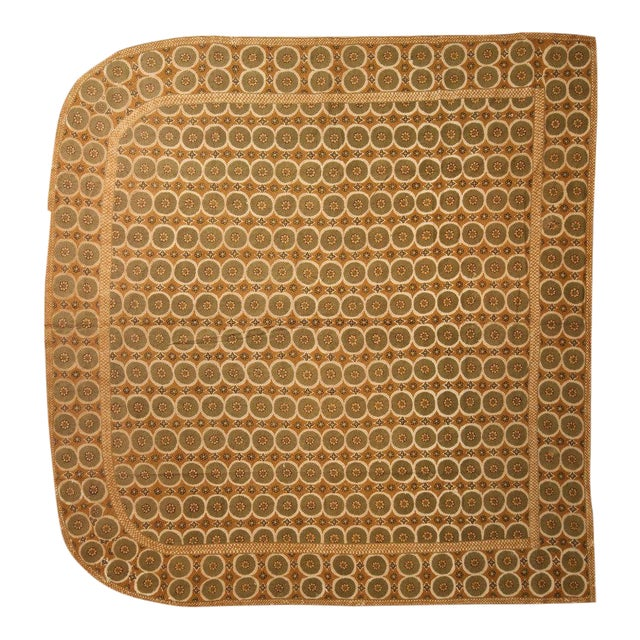 Hand Knotted Bedroom Portuguese Needlepoint Rug - 9′6″ × 9′9″ For Sale