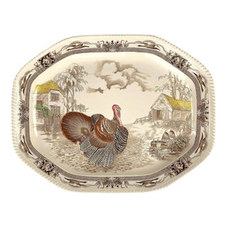 English Transferware Large Platter, Barnyard King by Johnson Brothers For Sale