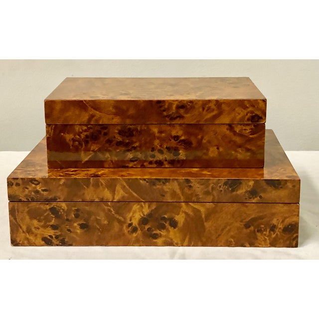 Italian Burlwood Boxes - A Pair - Image 9 of 9