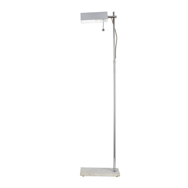 1950s Adjustable Reading Floor Lamp With Marble Base For Sale - Image 5 of 5